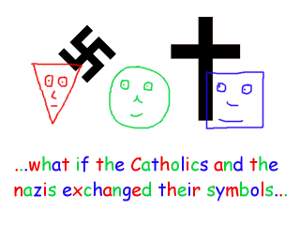 what if the Catholics and the nazis exchanged their symbols - Thumb