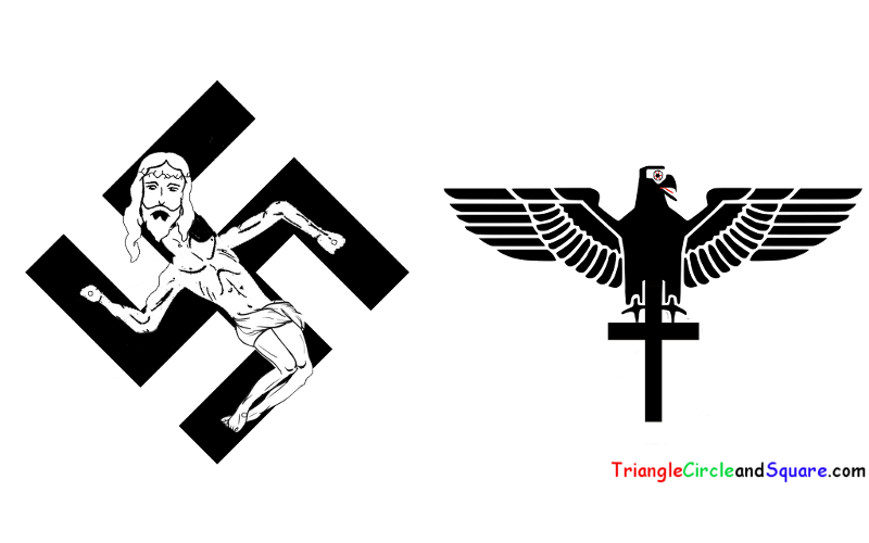 Triangle, Circle and Square what if the Catholics and the nazis exchanged their symbols