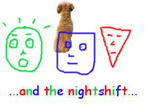 Triangle, Circle and Square - and the nightshift - thumb