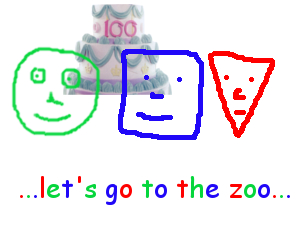 Triangle, Circle and Square - let's go to the zoo - thumb
