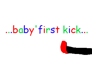 Collection of Funny Cartoon Pictures - baby's first kick thumb